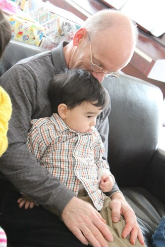 My dad and my nephew